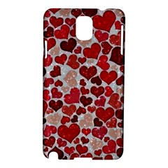 Sparkling Hearts, Red Samsung Galaxy Note 3 N9005 Hardshell Case