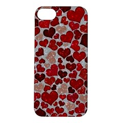 Sparkling Hearts, Red Apple iPhone 5S Hardshell Case