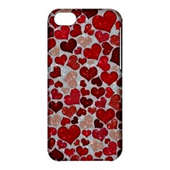 Sparkling Hearts, Red Apple iPhone 5C Hardshell Case