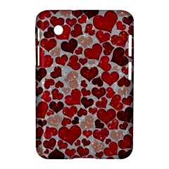 Sparkling Hearts, Red Samsung Galaxy Tab 2 (7 ) P3100 Hardshell Case