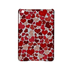 Sparkling Hearts, Red iPad Mini 2 Hardshell Cases