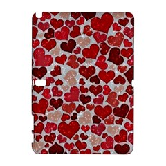 Sparkling Hearts, Red Samsung Galaxy Note 10.1 (P600) Hardshell Case