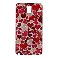 Sparkling Hearts, Red Samsung Galaxy Note 3 N9005 Hardshell Back Case