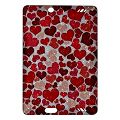 Sparkling Hearts, Red Kindle Fire HD (2013) Hardshell Case
