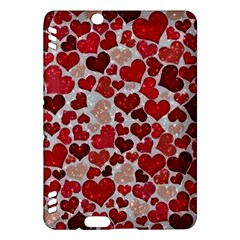 Sparkling Hearts, Red Kindle Fire HDX Hardshell Case