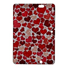 Sparkling Hearts, Red Kindle Fire HDX 8.9  Hardshell Case