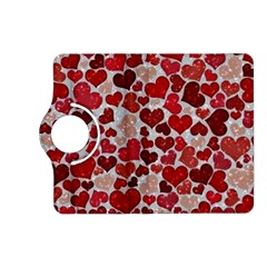 Sparkling Hearts, Red Kindle Fire HD (2013) Flip 360 Case