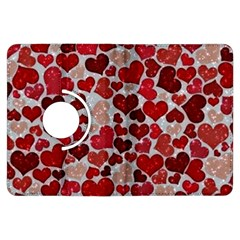Sparkling Hearts, Red Kindle Fire HDX Flip 360 Case