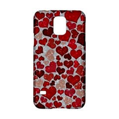 Sparkling Hearts, Red Samsung Galaxy S5 Hardshell Case