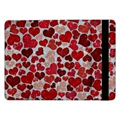 Sparkling Hearts, Red Samsung Galaxy Tab Pro 12.2  Flip Case