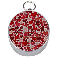 Sparkling Hearts, Red Silver Compasses