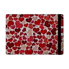 Sparkling Hearts, Red iPad Mini 2 Flip Cases