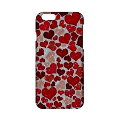 Sparkling Hearts, Red Apple iPhone 6/6S Hardshell Case