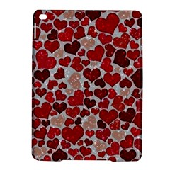 Sparkling Hearts, Red Ipad Air 2 Hardshell Cases