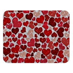 Sparkling Hearts, Red Double Sided Flano Blanket (Large)