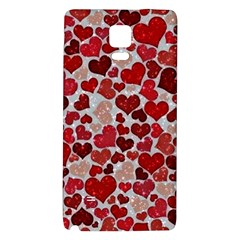 Sparkling Hearts, Red Galaxy Note 4 Back Case