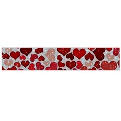 Sparkling Hearts, Red Flano Scarf (large)