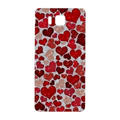 Sparkling Hearts, Red Samsung Galaxy Alpha Hardshell Back Case