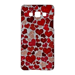 Sparkling Hearts, Red Samsung Galaxy A5 Hardshell Case
