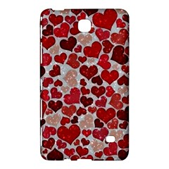 Sparkling Hearts, Red Samsung Galaxy Tab 4 (8 ) Hardshell Case