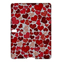 Sparkling Hearts, Red Samsung Galaxy Tab S (10.5 ) Hardshell Case