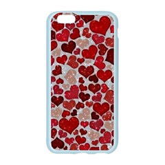 Sparkling Hearts, Red Apple Seamless iPhone 6 Case (Color)