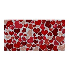 Sparkling Hearts, Red Satin Wrap