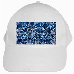 Hearts And Checks, Blue White Cap