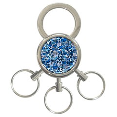 Hearts And Checks, Blue 3-Ring Key Chains