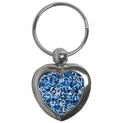 Hearts And Checks, Blue Key Chains (Heart)
