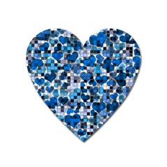 Hearts And Checks, Blue Heart Magnet