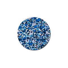 Hearts And Checks, Blue Golf Ball Marker (4 pack)