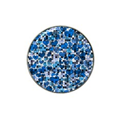Hearts And Checks, Blue Hat Clip Ball Marker (4 pack)