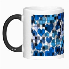 Hearts And Checks, Blue Morph Mugs