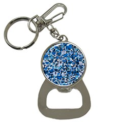 Hearts And Checks, Blue Bottle Opener Key Chains