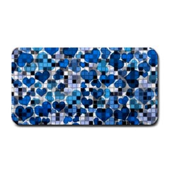 Hearts And Checks, Blue Medium Bar Mats