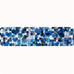 Hearts And Checks, Blue Large Bar Mats