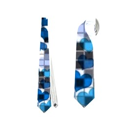Hearts And Checks, Blue Neckties (Two Side)