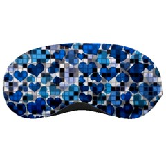 Hearts And Checks, Blue Sleeping Masks