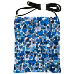 Hearts And Checks, Blue Shoulder Sling Bags