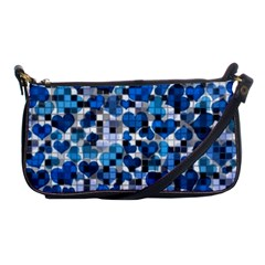 Hearts And Checks, Blue Shoulder Clutch Bags