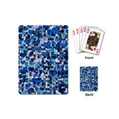 Hearts And Checks, Blue Playing Cards (Mini)