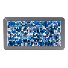 Hearts And Checks, Blue Memory Card Reader (Mini)