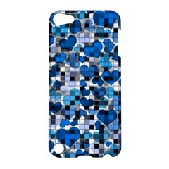 Hearts And Checks, Blue Apple iPod Touch 5 Hardshell Case
