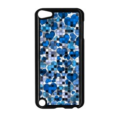 Hearts And Checks, Blue Apple iPod Touch 5 Case (Black)