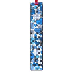 Hearts And Checks, Blue Large Book Marks