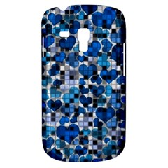 Hearts And Checks, Blue Samsung Galaxy S3 MINI I8190 Hardshell Case