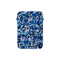 Hearts And Checks, Blue Apple iPad Mini Protective Soft Cases