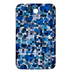 Hearts And Checks, Blue Samsung Galaxy Tab 3 (7 ) P3200 Hardshell Case