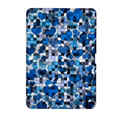 Hearts And Checks, Blue Samsung Galaxy Tab 2 (10.1 ) P5100 Hardshell Case